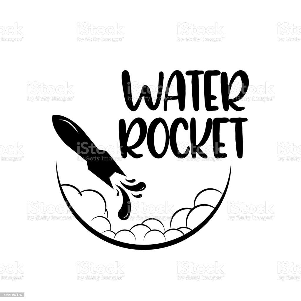 Water Rocket Vector Template Design water rocket vector template design - stockowe grafiki wektorowe i więcej obrazów balon royalty-free