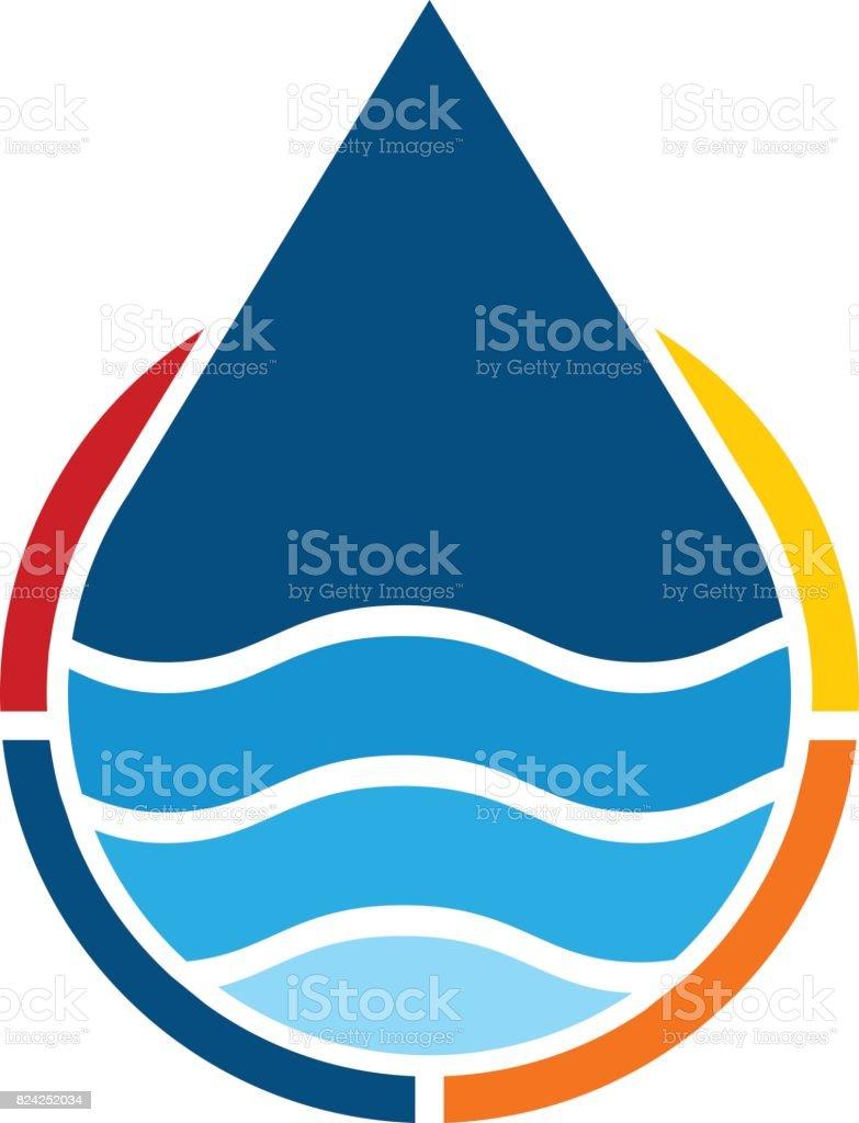 Water Solution vector art illustration