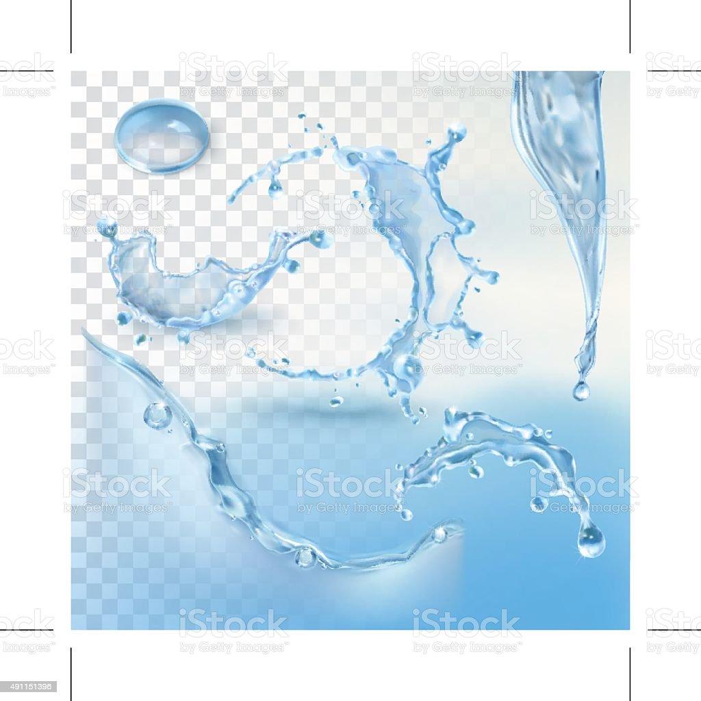 Agua splash vector de elemento - ilustración de arte vectorial