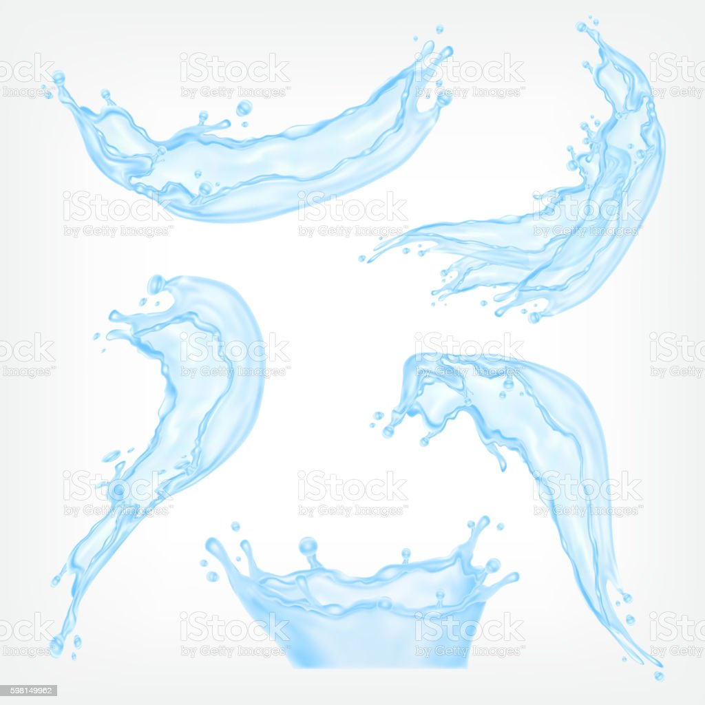 Water splash vector art illustration