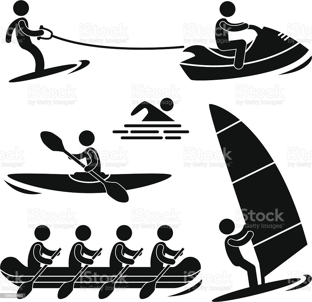 Water Sport Pictogram royalty-free stock vector art