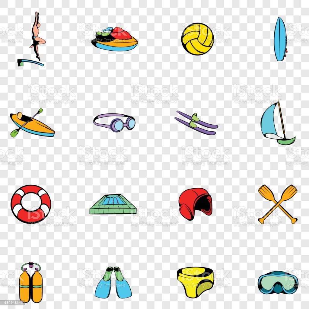Water Sport set icons royalty-free water sport set icons stock vector art & more images of diving into water
