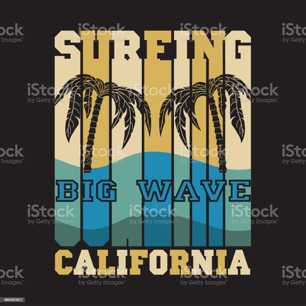 water sport, Surfing California, big wawe surfing, T-shirt...
