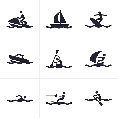Water Sports Icons and Symbols