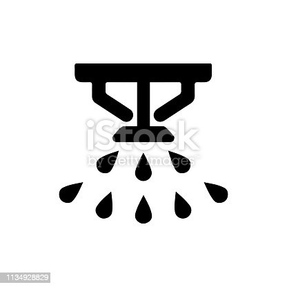 Water sprayer, fire extinguisher icon – stock vector