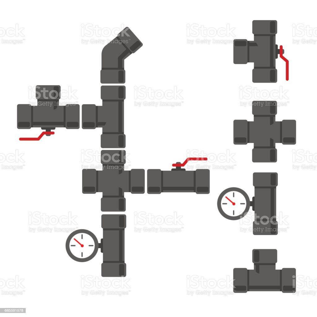 용수 공급 시스템 royalty-free 용수 공급 시스템 0명에 대한 스톡 벡터 아트 및 기타 이미지