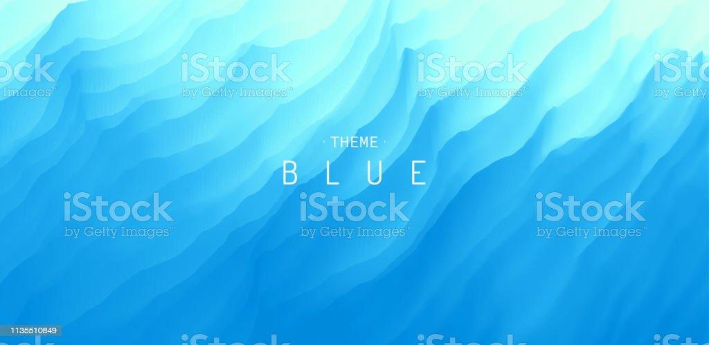 Vatten ytan. Blå abstrakt bakgrund. Vektor illustration för design. - Royaltyfri Abstrakt vektorgrafik