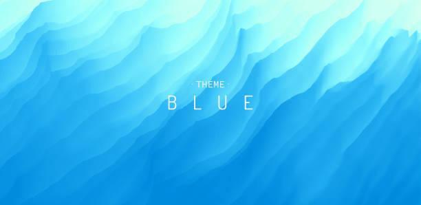 powierzchnia wody. niebieskie abstrakcyjne tło. ilustracja wektorowa do projektowania. - fala woda stock illustrations