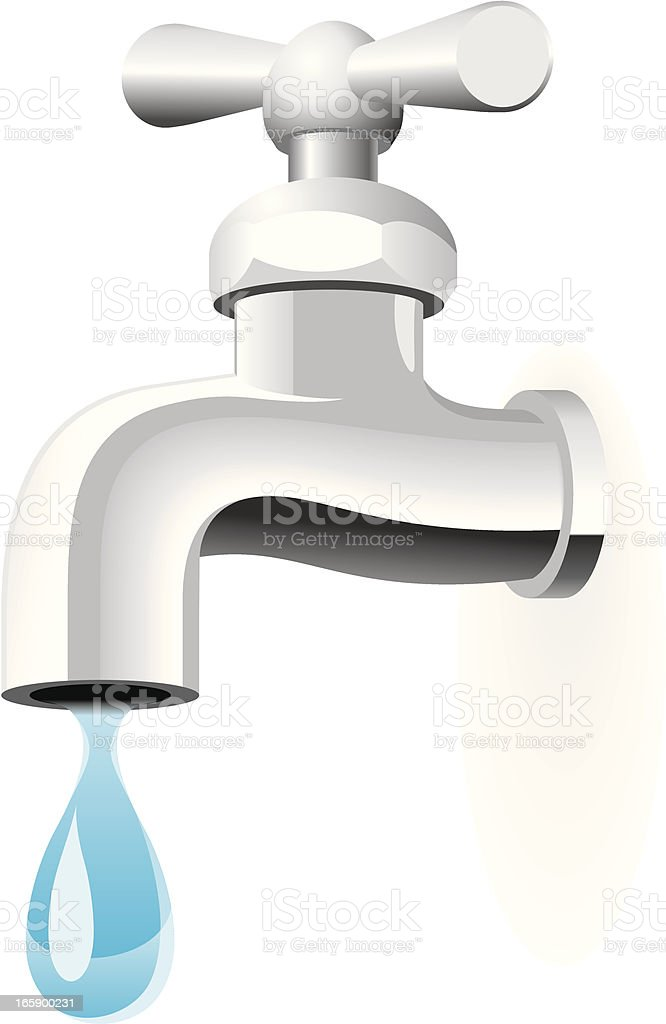 Water tap vector art illustration