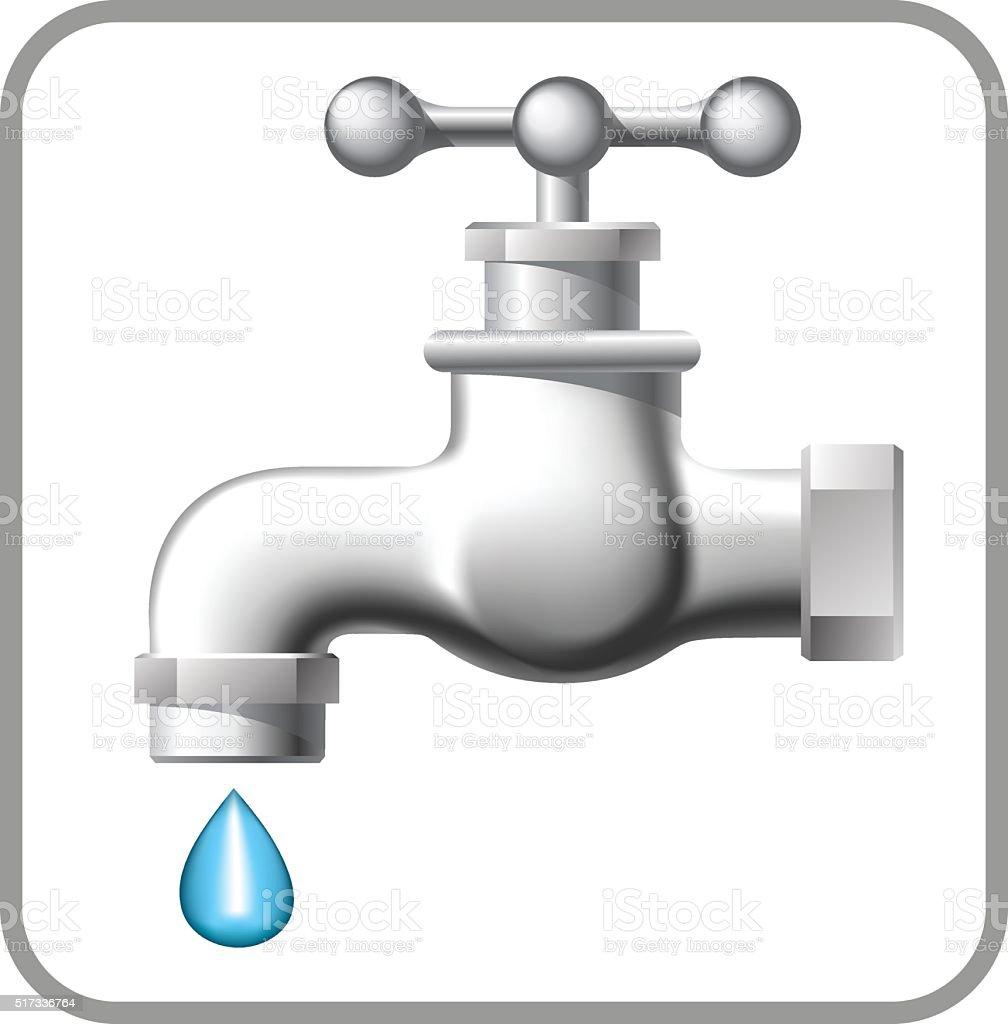 Water tap. vector art illustration