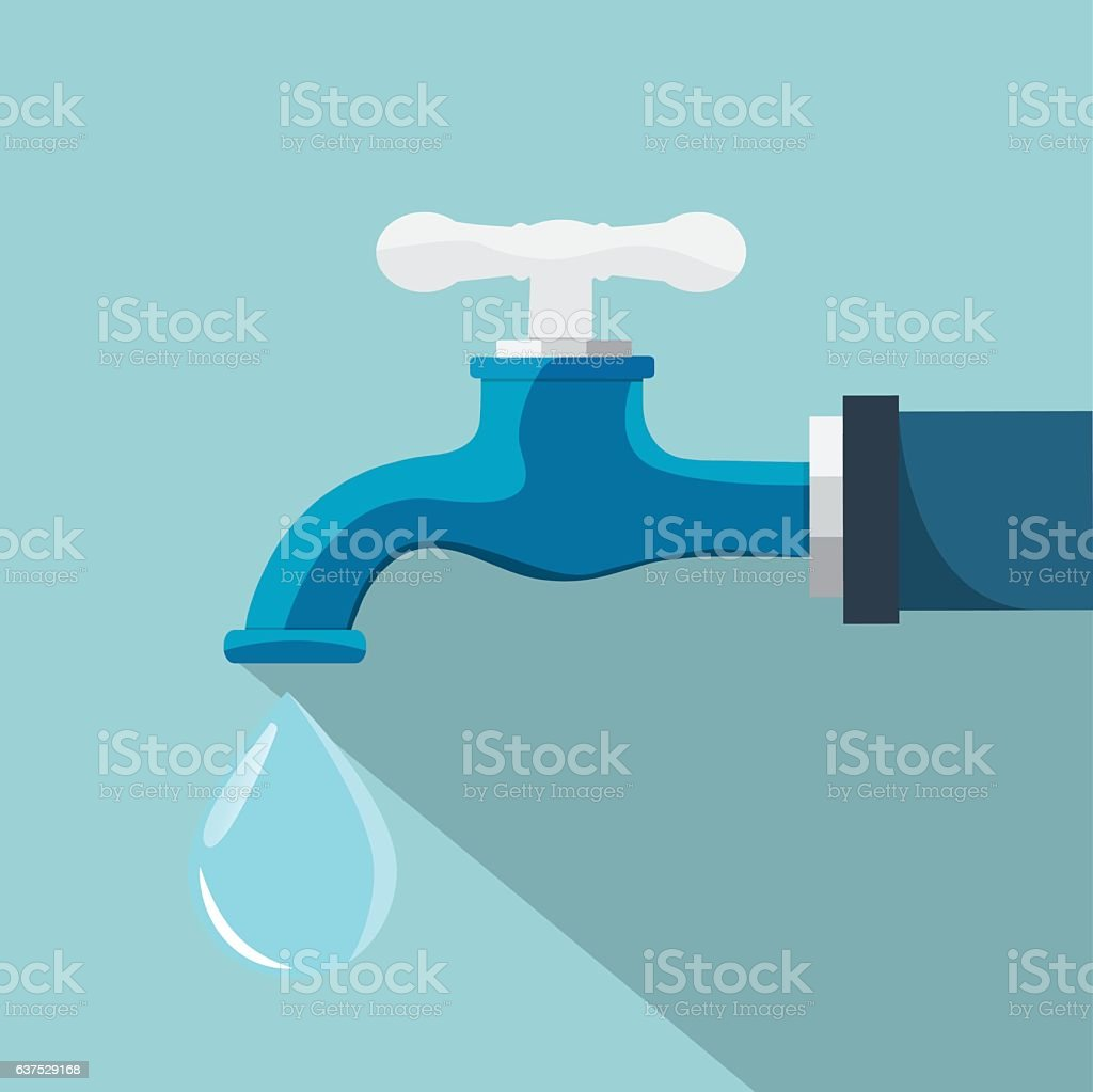 Water tap - vector illustration vector art illustration