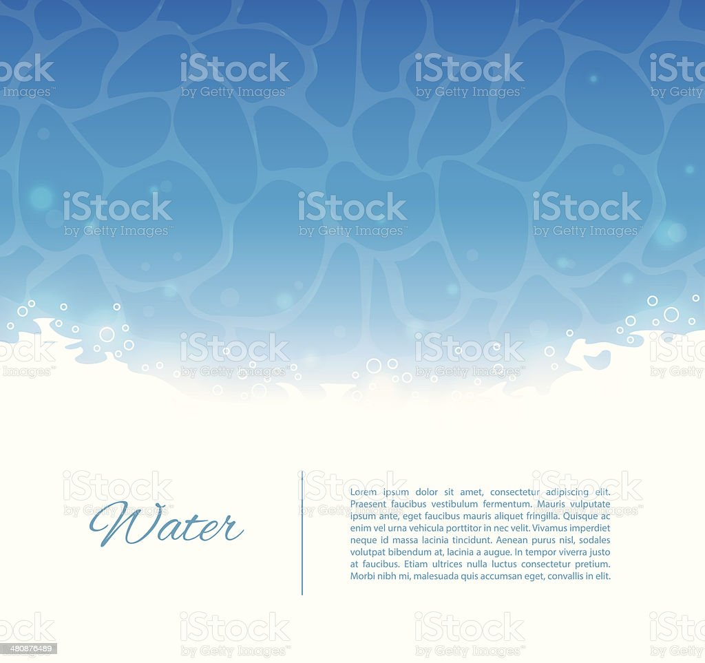 Water template vector art illustration