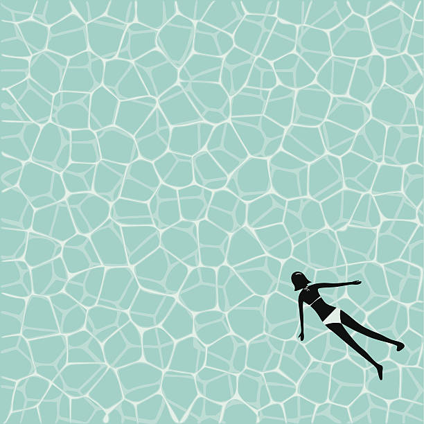 water texture water surface texture and a woman in bikini floating on water stock illustrations