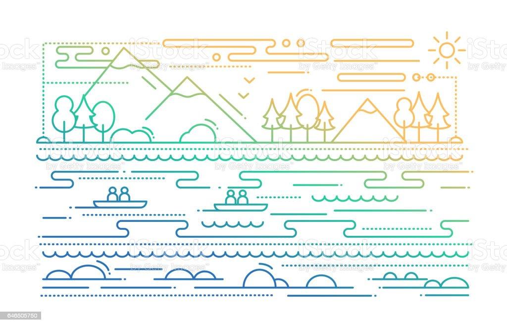 Ilustración de Degradado De Color De Turismo Ilustración De Diseño ...