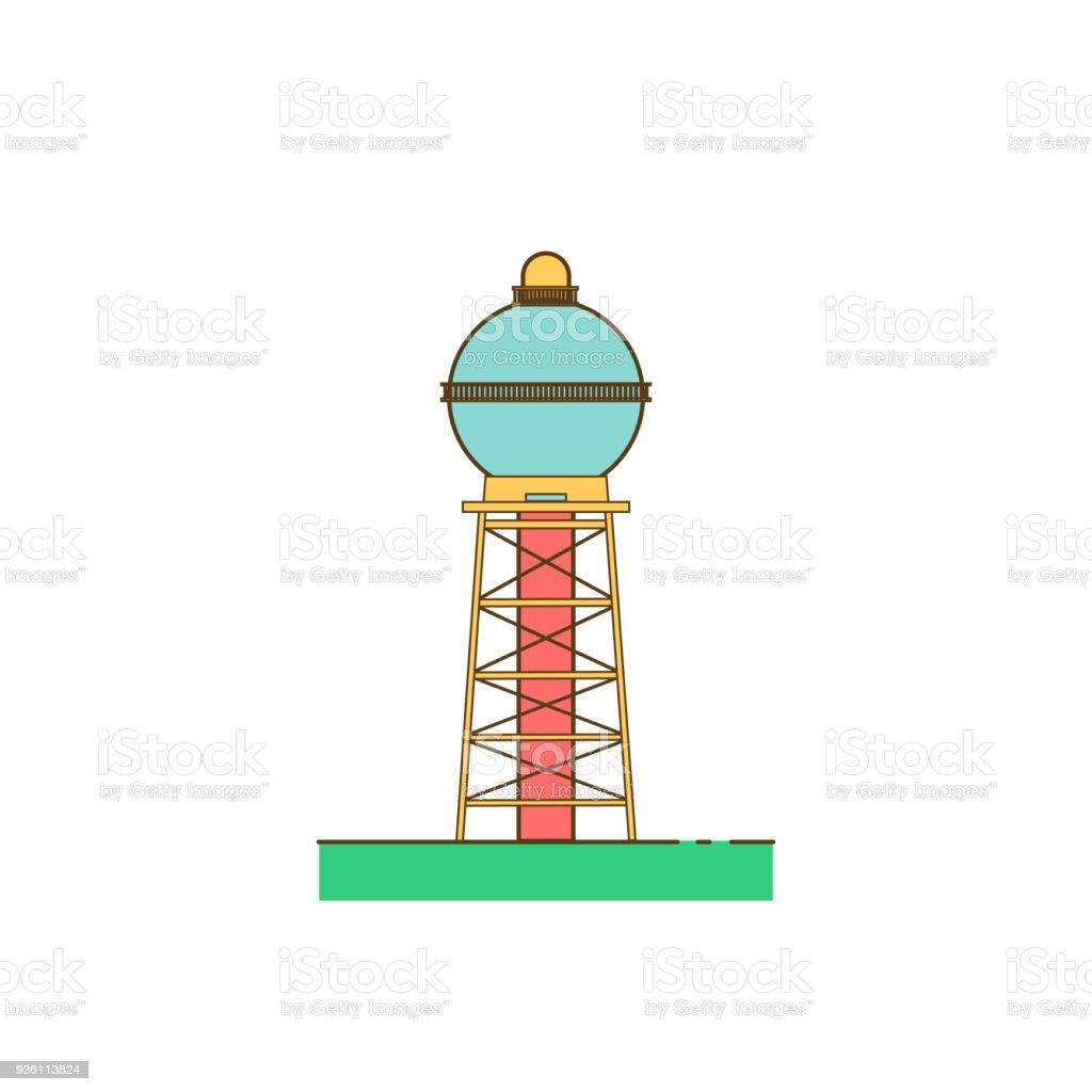water tower building vector art illustration