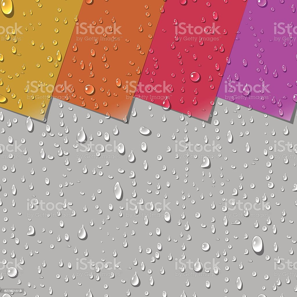 Water Transparent Drops Seamless Pattern vector art illustration