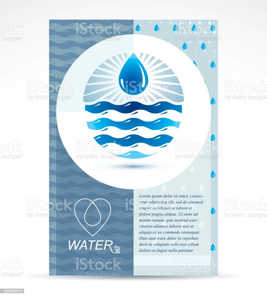Water Treatment Company Presentation Flyer Freshwater