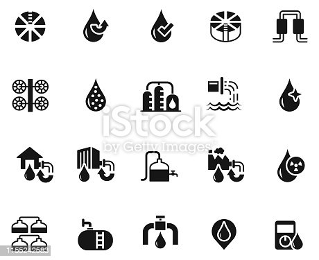 Water treatment icon set , vector illustration