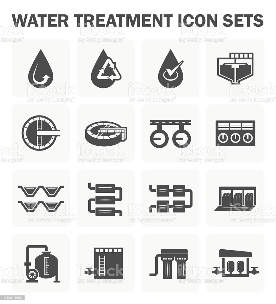 Water treatment icon vector art illustration