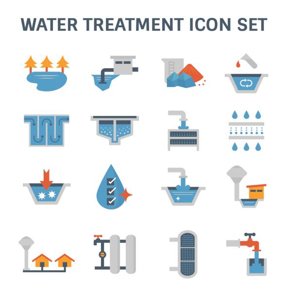 su arıtma simgesi - tap water stock illustrations