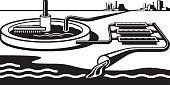 Water treatment plant - vector illustration