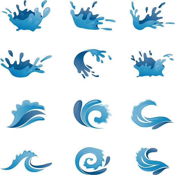 Water Vector Set vector art illustration
