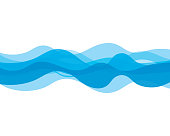Water wave icon vector illustration design logo template