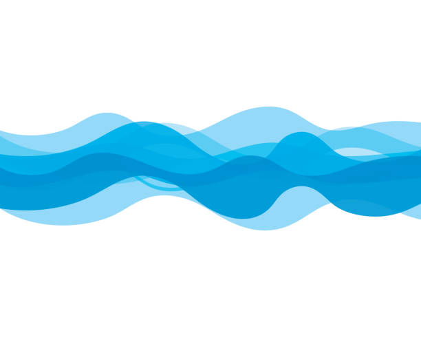 water wave icon - summer background stock illustrations