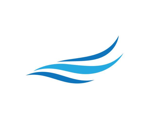 Water wave logo illustration Water wave logo vector icon illustration design wind stock illustrations