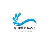 Water wave splash icon logo template