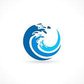 water wave splash icon