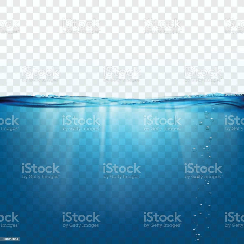 Onda de água na superfície - ilustração de arte em vetor