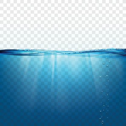 Surface De Leau Vague Vecteurs libres de droits et plus d'images vectorielles de Aquarium - Établissement pour animaux en captivité