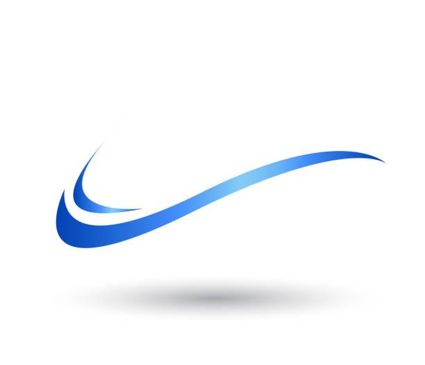 su dalgası swoosh sembolü ve simge vektör logo şablonu. - rüzgar stock illustrations
