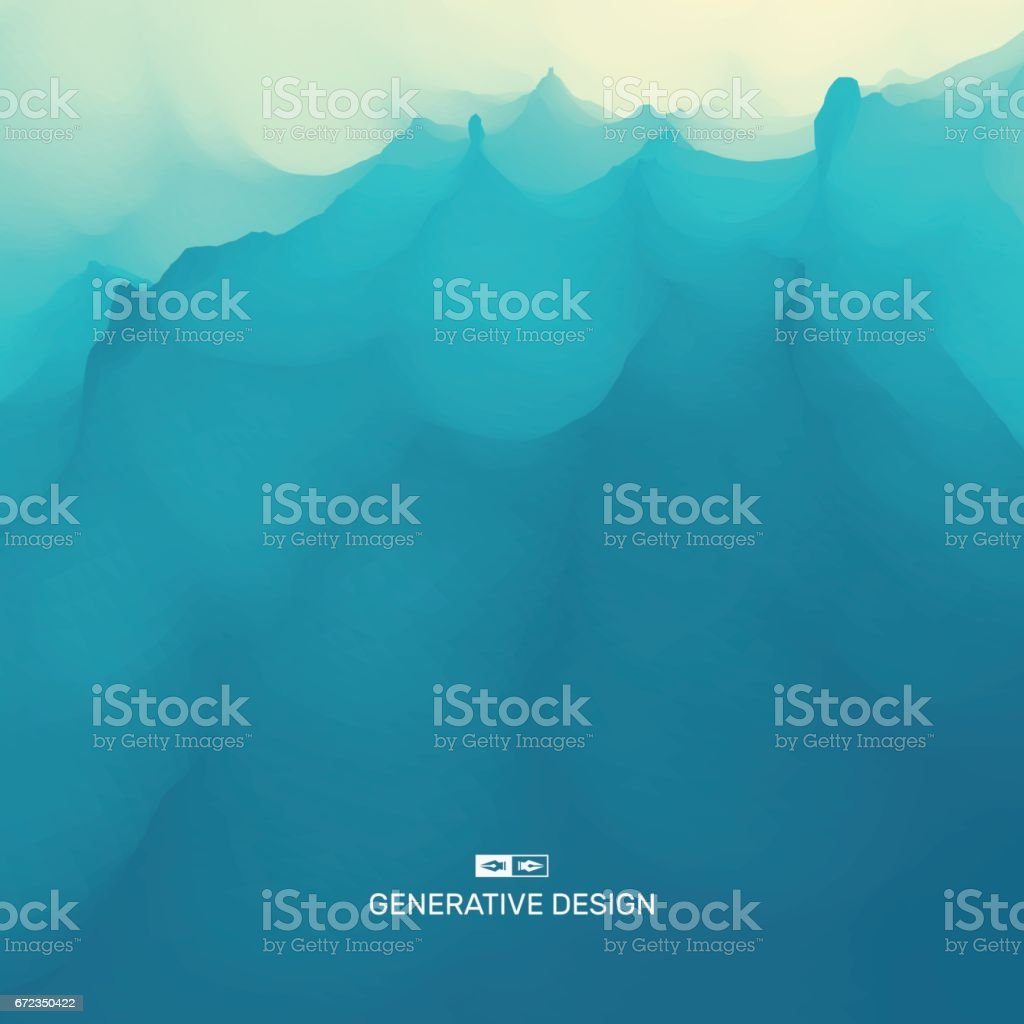 Water Wave. Water Surface. Nature background. Modern pattern. Vector Illustration For Your Design. vector art illustration