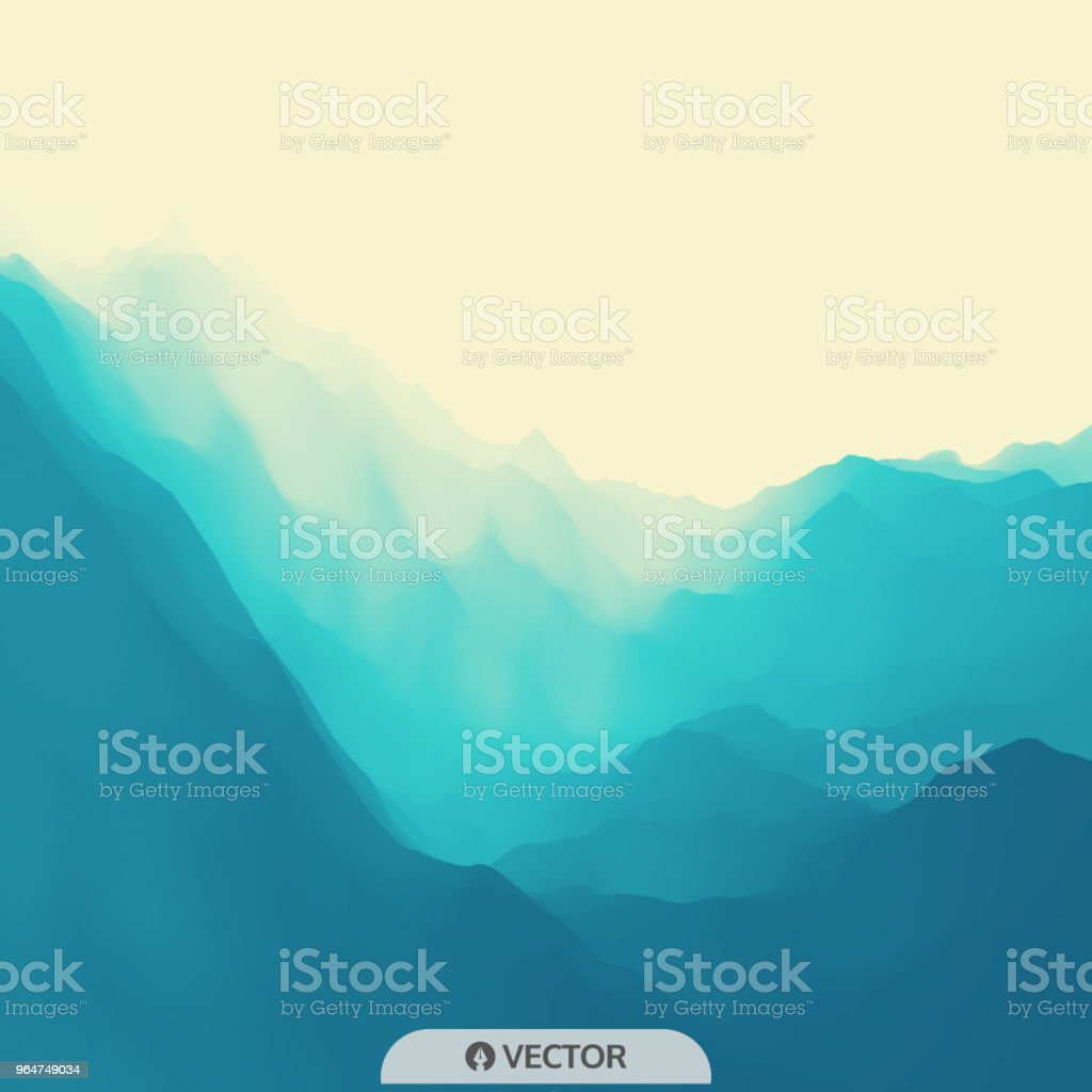 Water Wave. Water Surface. Nature background. Modern pattern. Vector Illustration For Your Design. royalty-free water wave water surface nature background modern pattern vector illustration for your design stock vector art & more images of abstract