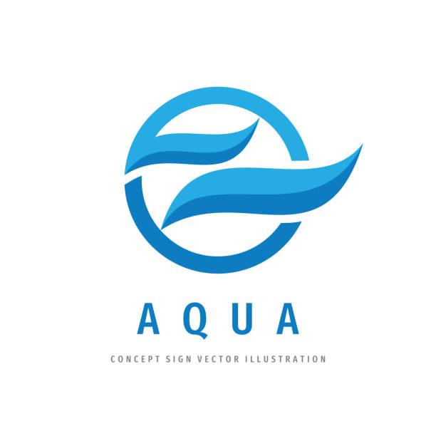 wasserwellen zeichen design. aqua konzept zeichen. vektor-illustration. - splash grafiken stock-grafiken, -clipart, -cartoons und -symbole