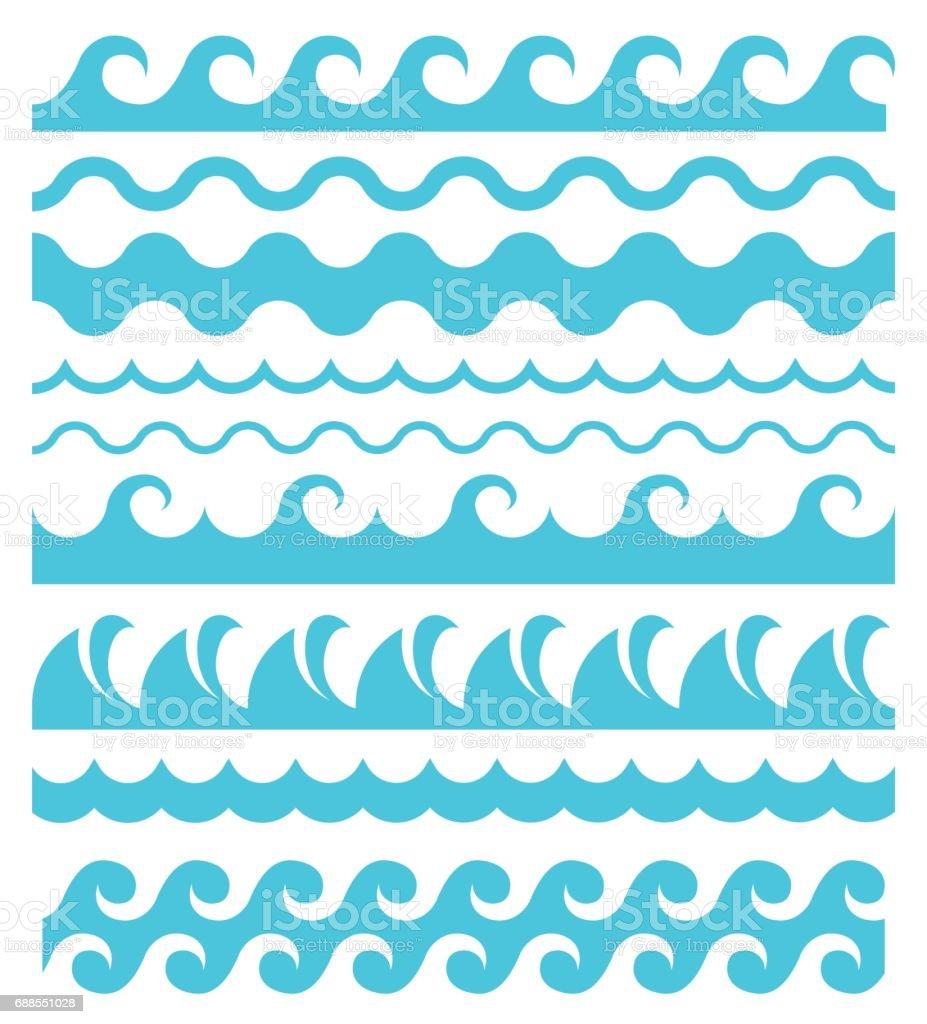 royalty free wave pattern clip art vector images illustrations rh istockphoto com Cartoon Waves Clip Art Beach Waves Clip Art
