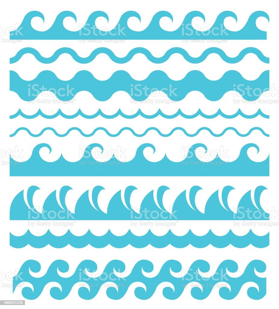 Water waves. vector art illustration