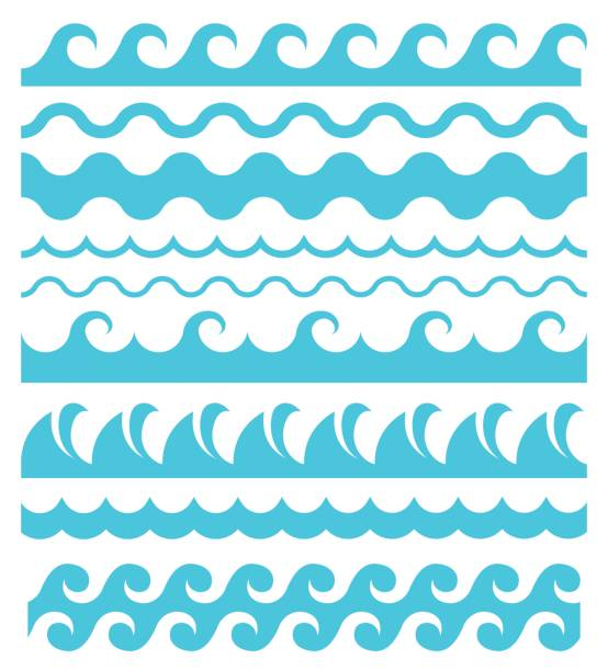 water waves. - wave pattern stock illustrations