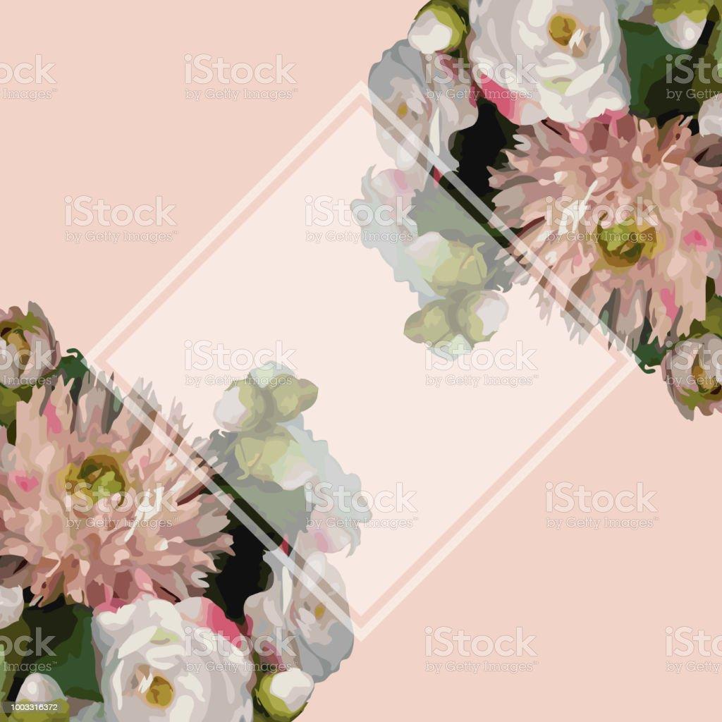 Aquarelle 3d Réaliste Romantique Fleurs Bouquet Composition