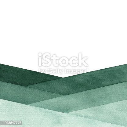 istock Watercolor Abstract Background With Green Colors 1293847776