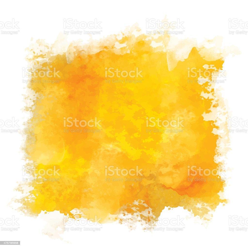 Coloração de Tinta Aquarela abstrato laranja - ilustração de arte em vetor
