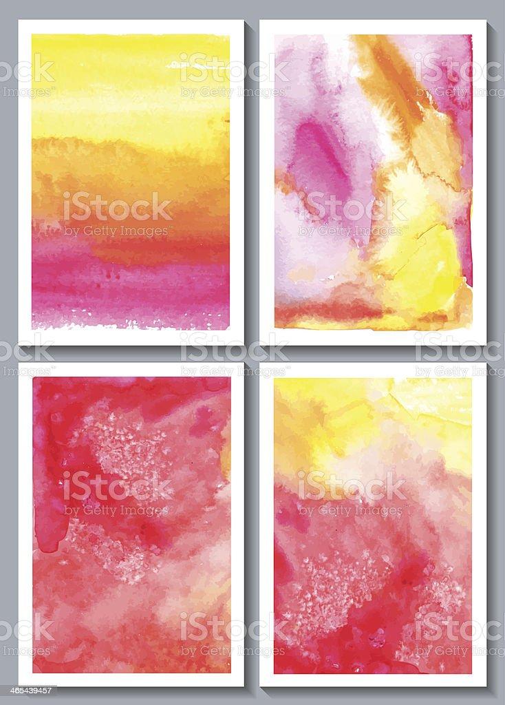 Watercolor abstract royalty-free stock vector art