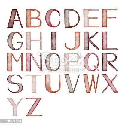 Vector illustration of alphabet.