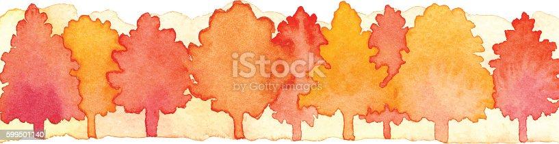 Vector illustration of autumn woods.