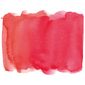 Red vectorized watercolor spot.