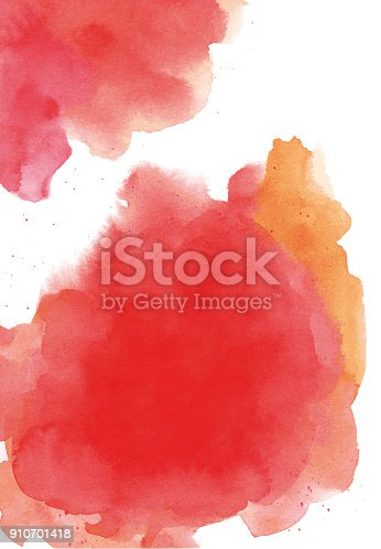 istock Watercolor background red 910701418