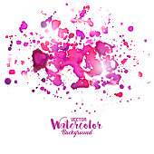 A vector illustration of watercolor paint splashes.