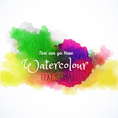 Watercolor Texture and colorful banner for textures and Backgrounds.